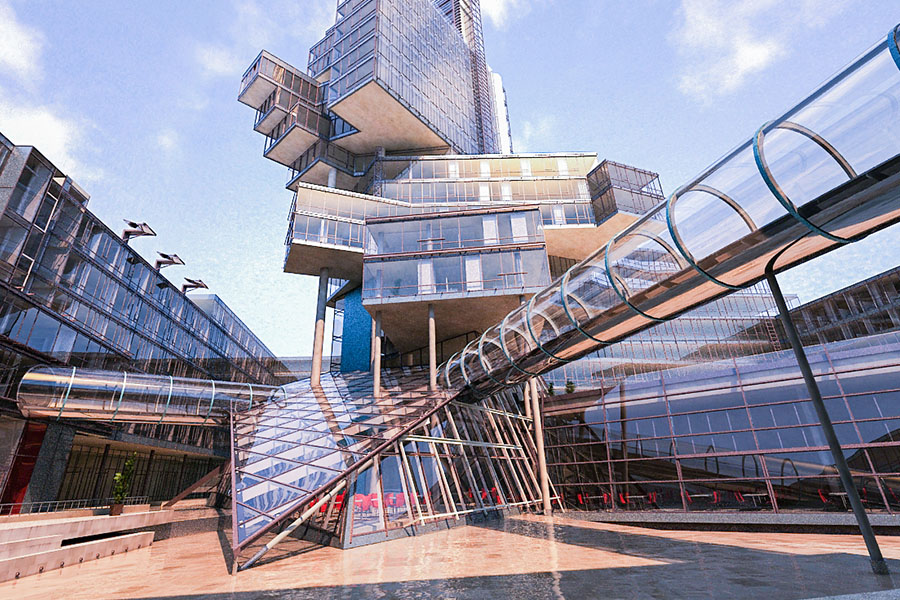 Wizualizacja Architektura Zabudowa Miejska