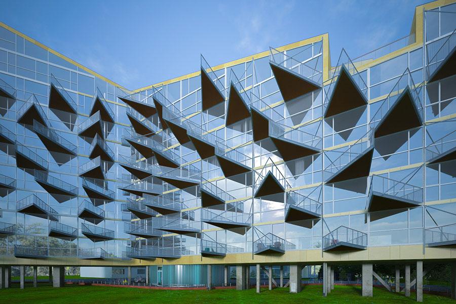 Wizualizacja Architektura Blok