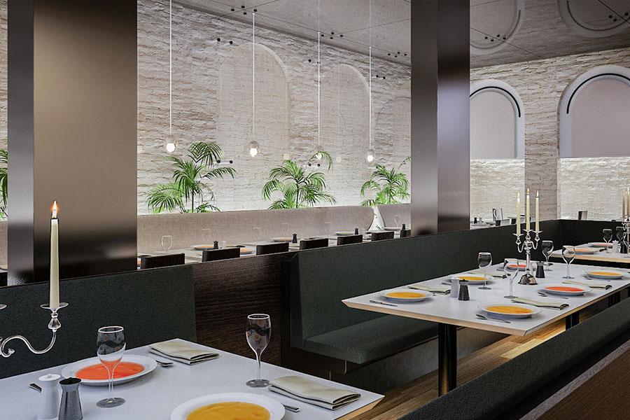 Wizualizacja wnętrza Restauracja
